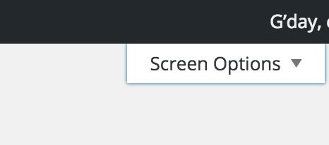 Screen Shot of expanding screen options