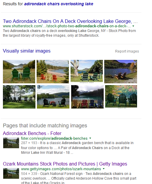 google image search with keywords added
