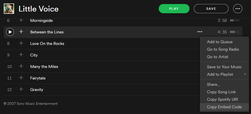 How to Change your Embedded Audio from Spotify using the Divi Page