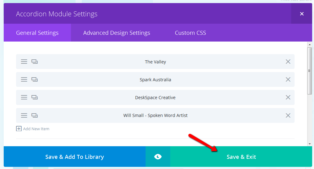 How to Edit the Content in your Divi Accordion Module | MakeWeb