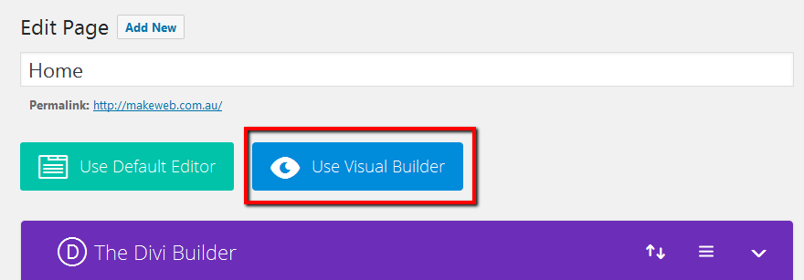 use visual builder