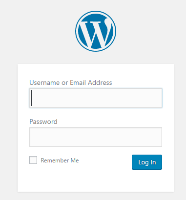 log in to WP admin panel