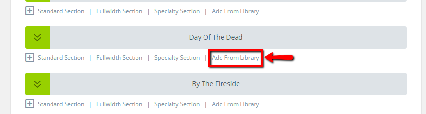 add section from library