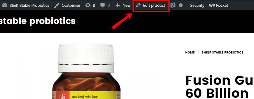 edit product