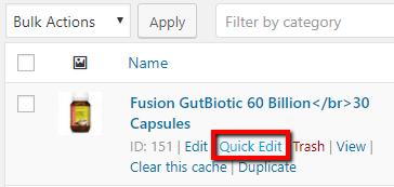 quick edit