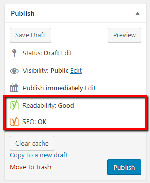 readability and seo rating